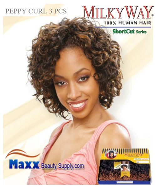 MilkyWay Human Hair Weave Short Cut Series - Peppy Curl 3pcs